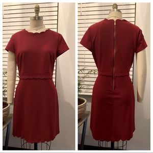 B. Darlin Scalloped Red Dress
